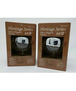Vintage 2 Pack Heritage Series Silver Dipped 60W G25 Bulb Edison Steam Punk - $12.86