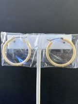 New Avon Timeless Texture Hoop Earrings - Gold tone (1575) - $10.00