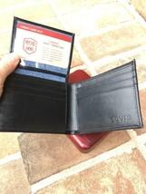Levi's Men's Black Bifold Leather Wallet RFID Blocking image 2