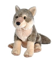 Wolf Stuffed Animal Soft Plush Toy Detailed 12 Inch Cute Kids Cuddle Pla... - $34.99