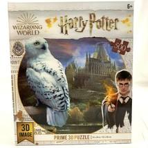 Harry Potter Puzzle 500 Pieces Hogwarts Castle Hedwig Owl Jigsaw 3D Image - $32.76