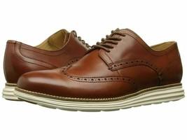 Nuevo Cole Haan Hombre Original Grand Shortwing Zapatos Oxford, Woodbury/Marfil - $97.11