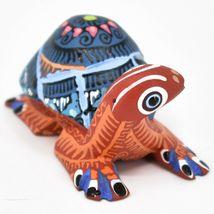 Handmade Alebrijes Oaxacan Copal Wood Carving Painted Folk Art Turtle Figurine image 4