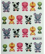 Nail Art Water Decals Mouse Dog Duck Pig Snake - $7.43