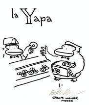 Spanish Apes: La Yapa. Original Signed Cartoon by Walter Moore - $9.42