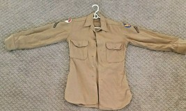 WWII Original US Private Uniform Dress Shirt Army Air Corp Northeast Air Command - $29.95