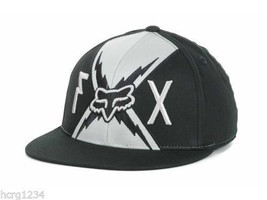 Fox Racing  210 Flex Big Boltz Logo Flat Bill Stretch Fit Cap Hat  L/XL - $20.89