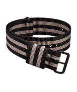 WOCCI Striped Nato Straps 18mm 20mm 22mm 24mm Large Wrist Watch Bands  - $18.19