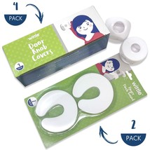 Door Safety Kit | Includes (4) Door Knob Covers (2) Finger Pinch Guards | Wittle - $14.95