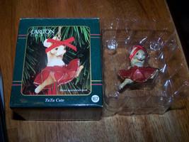 """Carlton Cards """"TuTu Cute"""" Mouse Ornament - EUC - $3.75"""
