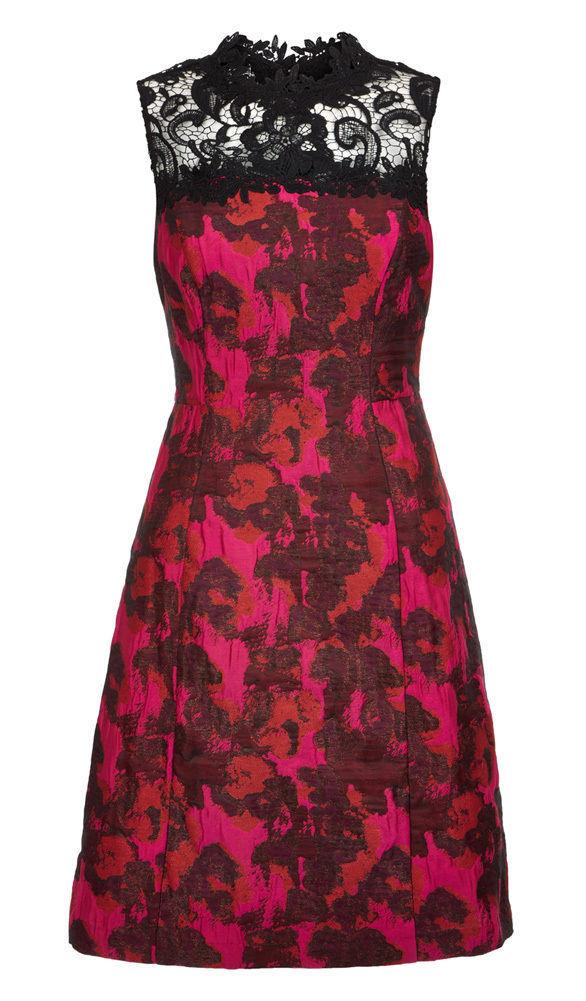 MONSOON Cara Jacquard Dress Size UK 14 BNWT