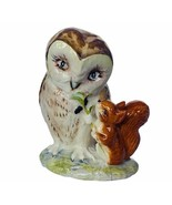 Owl figurine vtg sculpture Beatrix Potter Old Mr Brown Beswick England s... - $49.45