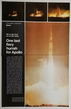 1972 Magazine Photo Article Apollo 17 Space Moon Launch Rocket - $15.13