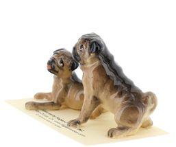 Hagen Renaker Dogs Pug Mama and Baby Tan Ceramic Figurine image 4