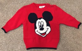 Disney Baby 3-6 Months Mickey Mouse Sweater Dress Red Q14 - $10.29
