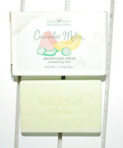 Bath & Body Works Cucumber Melon Moisture Rich Cleansing Bar 1.5 oz NEW ... - $9.85