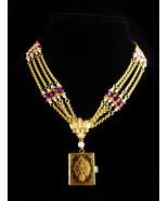 Stunning Edwardian style locket necklace - 3 photo hinged book locket - ... - $145.00
