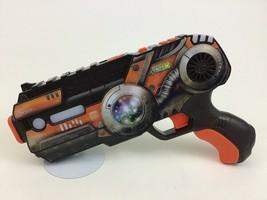 WowWee Light Strike Laser Tag Blaster Pistol DCR 024 XR Series Orange 2010 - $27.57