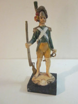 VINTAGE ITALIAN MADE NAPOLEONIC STYLE RUBBER PRUSSIAN SOLDIER CARRARA MA... - $9.99