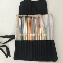 Mixed Lot of 43 Vintage Knitting Needles w/ Organizer Holder Bag Size 1 ... - $19.95