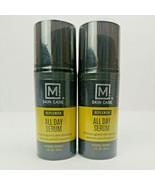 2x M Skin Care Replenish All Day Facial Serum for Men Antioxidant Rich Vita - $12.50