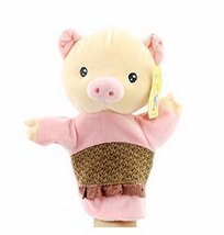 Cartoon hand puppet preschool educational toys for Toddler(Pink Piggy)