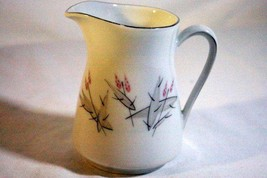 Winterling Bavaria Germany White With Pink Floral Creamer - $4.15