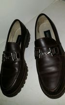 Kenneth Cole Reaction Womens SIze 7.5 M slip on shoes loafers Brown Leat... - $8.91