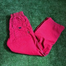 GAP Kids Elastic waist Drawstring Pocket jersey-lined Red Pant Size L (10) USED - $9.90