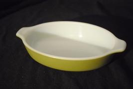Vintage Avocado Milk Glass Pyrex Pixie 10 oz Casserole - $7.69
