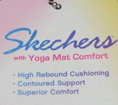 Skechers 38494 Yoga Foam Flip Flops Color Black Clear Rhinestones image 4