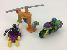 Teenage Mutant Ninja Turtles Half Shell Heroes Figures Vehicle 5pc Lot P... - $17.77