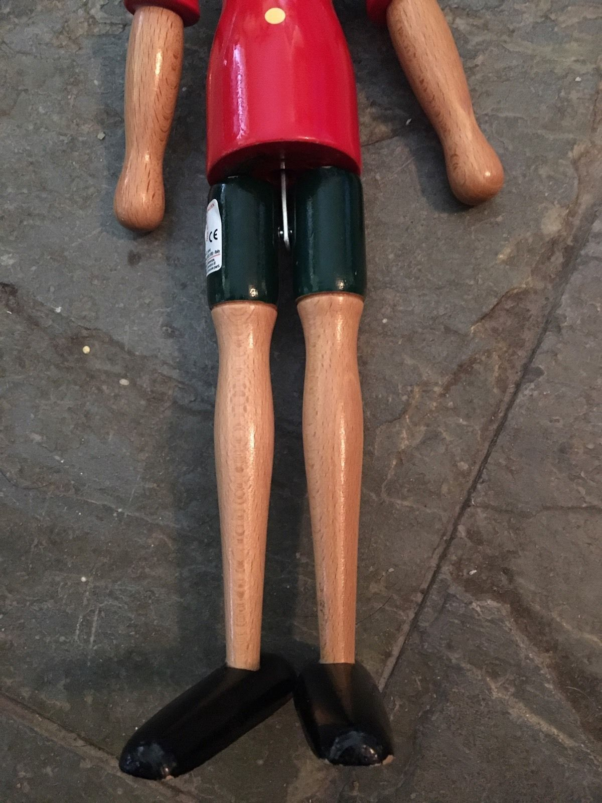 "17"" Pinocchio Wooden hinged poseable doll"