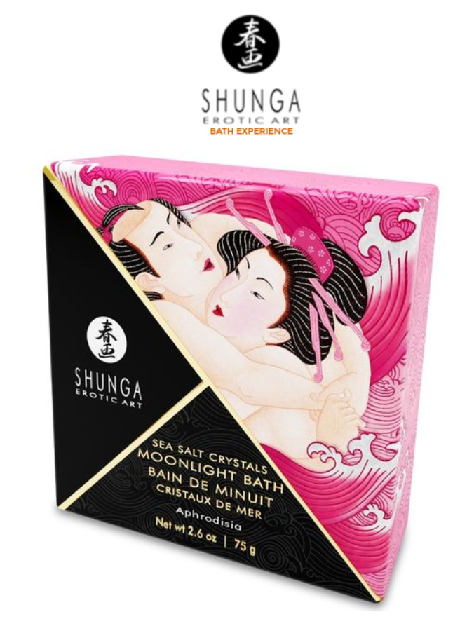 Shunga Moonlight Bath Sea Salt Crystals-Aphrodisia 2.6oz - $12.45