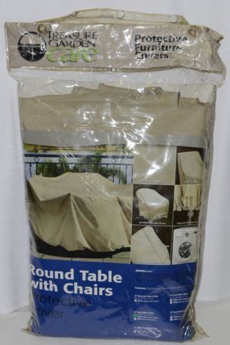 Treasure Garden Care CP571 Round Table and Chairs Cover Color Champagne