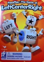 Left Center Right Dice Game Inside Game Travel Tin w - $7.99