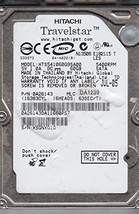"HTS541060G9SA00 60GB SATA 2.5"" 9.5MM 5400 RPM Hard Drive"