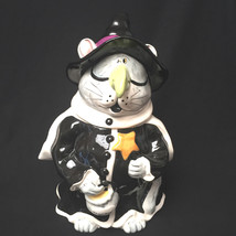 Blue Sky Clayworks Heather Goldminc Halloween Cat Witch Witches Brew Coo... - $55.44