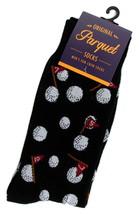 Golfing Mens Novelty Black Crew Golf Socks Casual Cotton Blend Fun Golfe... - $12.95