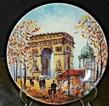 """Collector's Plate """"L"""" ARC DE LA TRIOMPHE"""" AA20-7207CC Vintage"""