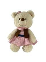 "Gund Rootin Tootin Cow Girl Teddy Bear Plush Stuffed Animal 13"" Soft Toy - $16.83"