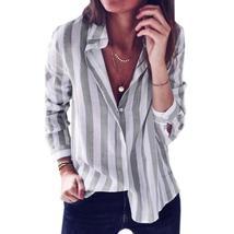 2018 New Striped Blouse Women Blusas Autumn Slim Fit Long Sleeve Women's Blouses - $28.35+