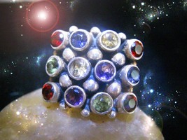 Haunted Ring Ooak The 7 Stars Of Ascension Become A Master Secret Magick - $9,007.77