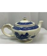 Vintage Blue Willow Porcelain Teapot, Japan - $37.99