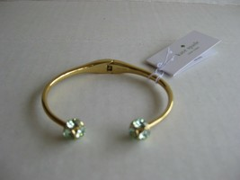 NWT Kate Spade Lady Marmalade Gold / Mint Open Cuff Bracelet w/Dust bag - $27.50