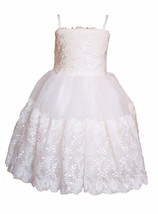 Cinda Ivory Lace Flower Girl Party Dress 18-24 Months 2 3 4 5 6 Years - $17.68