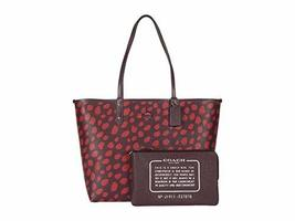 COACH Deer Spot Print Reversible City Tote Multi One Size