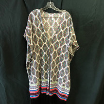 Lane Bryant Cacique Swim Beach Coverup Colorful with Fringe Fits 22 thru 28 - $28.49