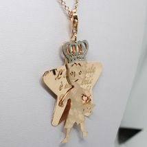 Silver Necklace 925 Laminated IN Rose Gold LE FAVOLE With Prince And Star image 5