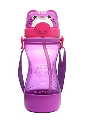 Lovely Animal Kids Sippy Cups Baby Sippy Cup Children Drinking Cup Cat